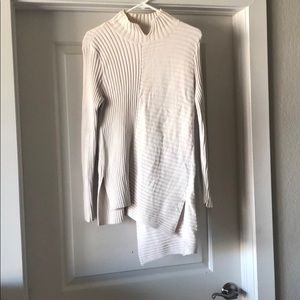 Cabi cream sweater with back D Hooks